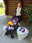 Nina received clothes and toys for her baby